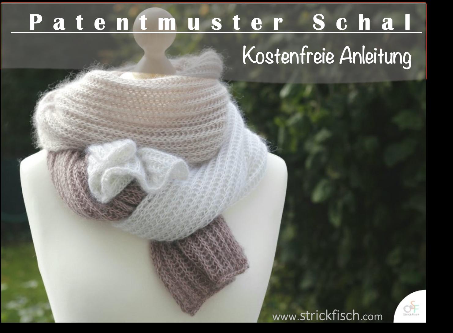 Photo of Patentmuster Schal stricken – Strickbeschreibung