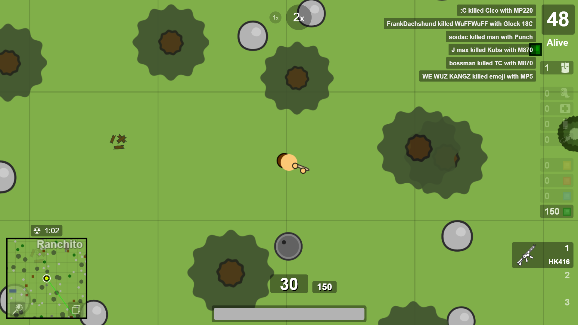 Surviv Io A Browser Based Battle Royale I Found About Yesterday