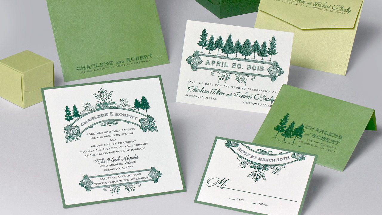 Charlene & Robert Wedding Invitation