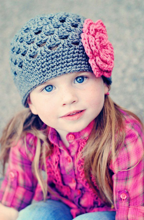 eb067dd00d6 Girls Beanie   Crochet Baby Hat   Girls Hat   Baby Girl Hat   Girls Winter  Hat   Hats For Girls   To