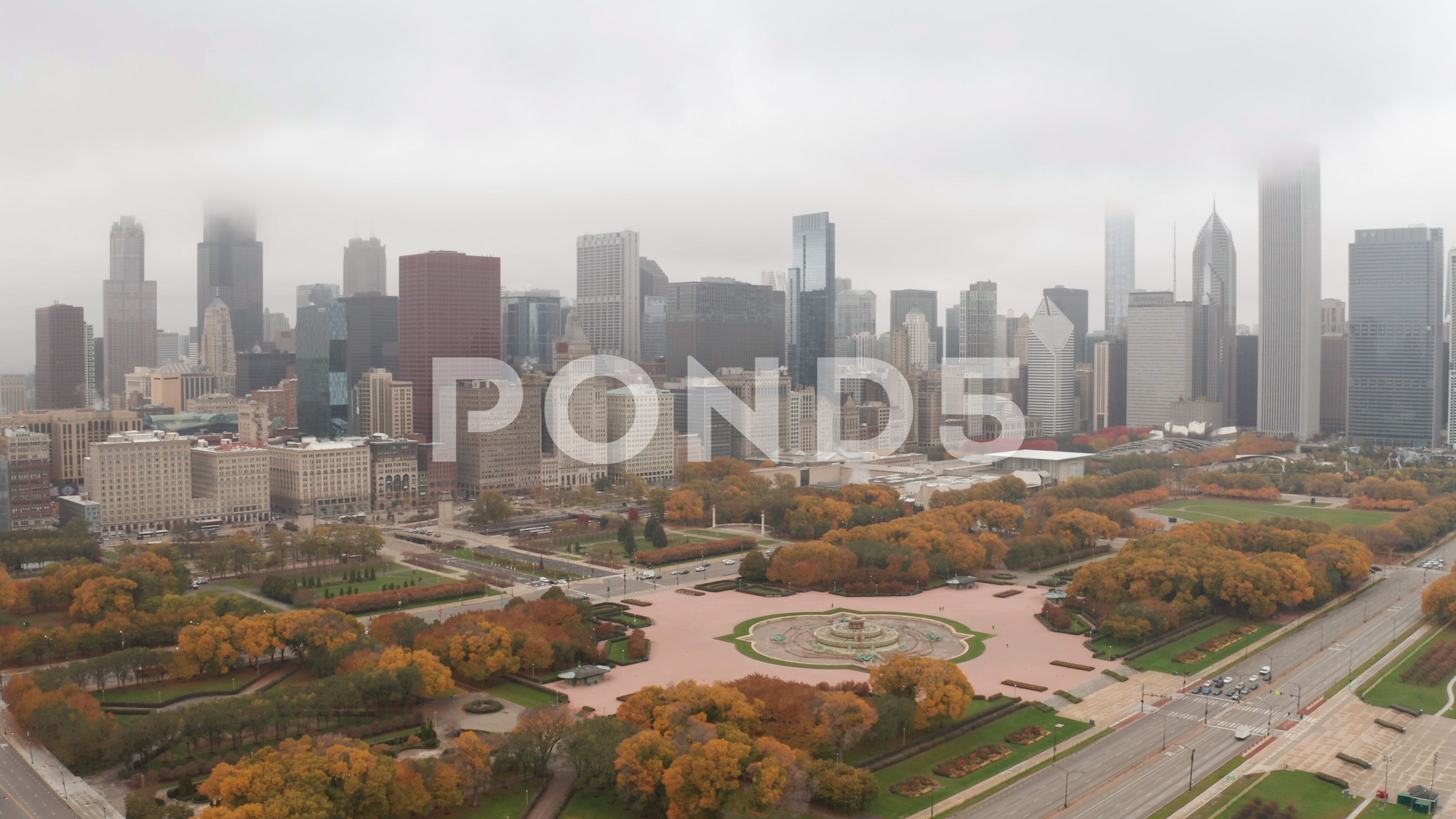 Chicago Downtown Aerial Fall Autumn Foliage Buildings Drone Flying Skyline Stock Footage Ad Fall Autumn Foliage Chicago In 2020 Downtown Chicago Aerial Fall Foliage
