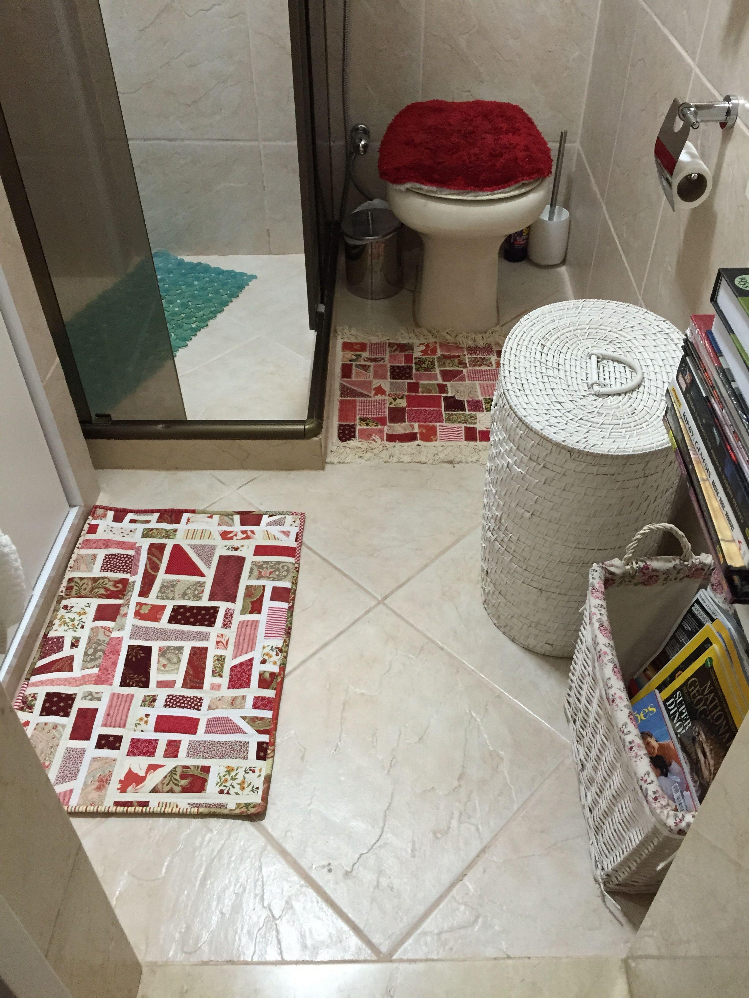 Tapetes De Banheiro Projeto Reaproveitando Retalhos Tapetes De