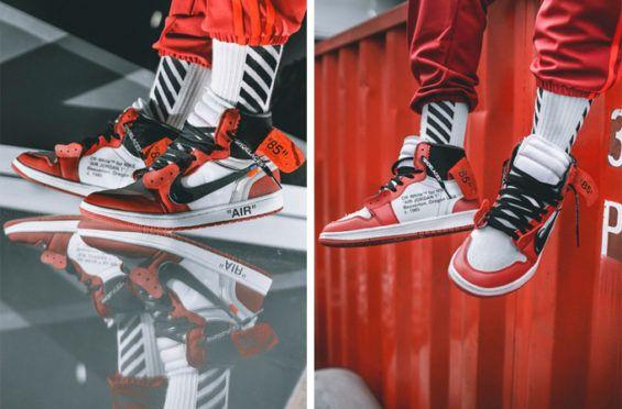 0f0e5ab93b82ba An On-Feet Look At The OFF-WHITE x Air Jordan 1 High