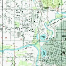 Lewis County Washington Map.Skookumchuck River Topo Map Lewis County Wa Centralia Area