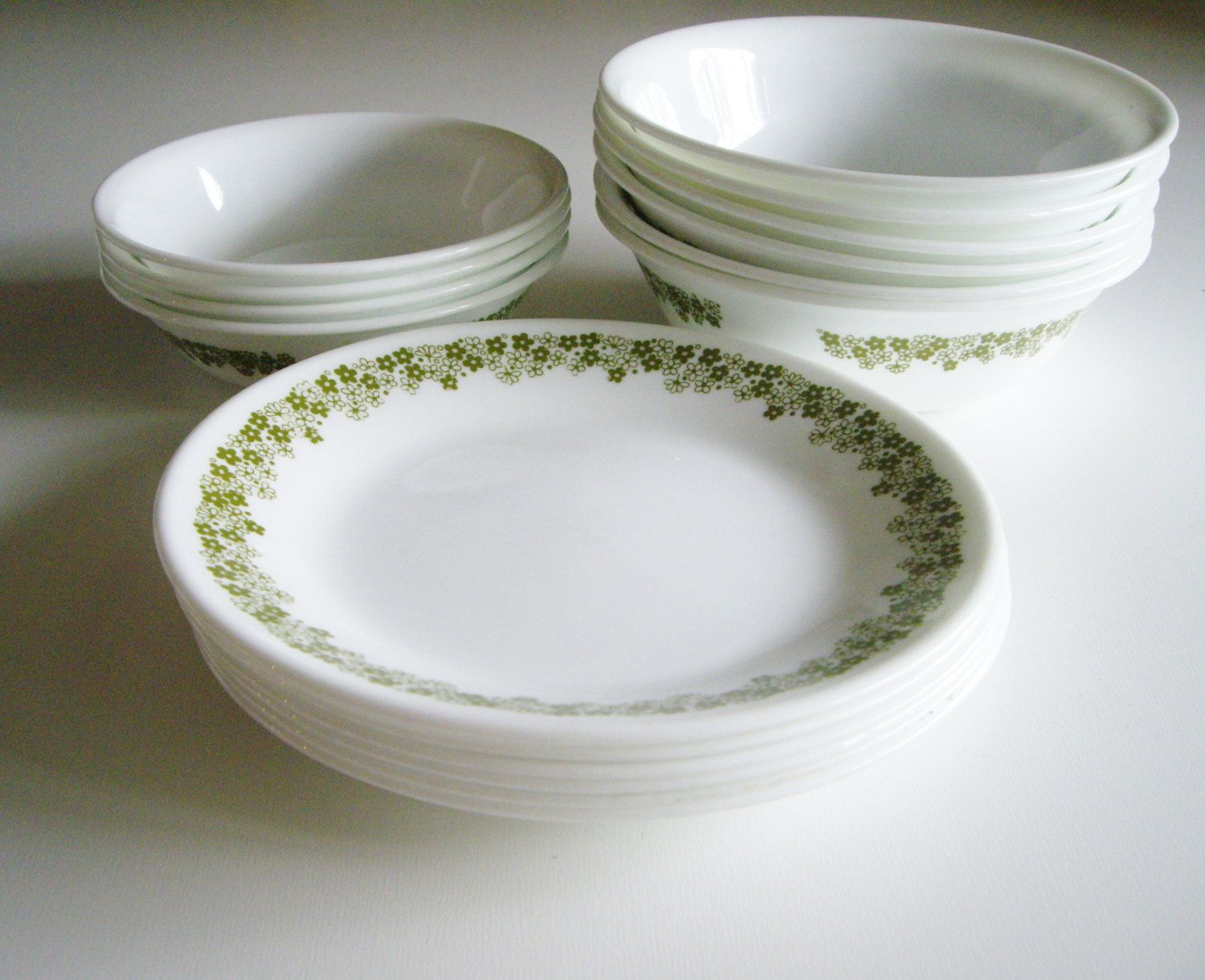 Vintage Corelle Dishes Spring Blossom Crazy Daisy