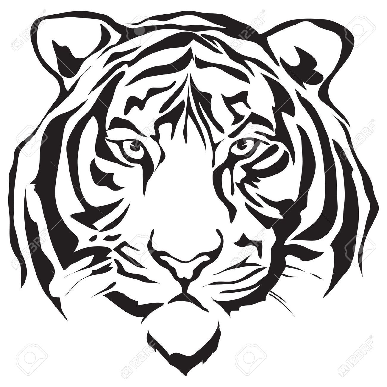 Gallery For gt Tiger Head Outline