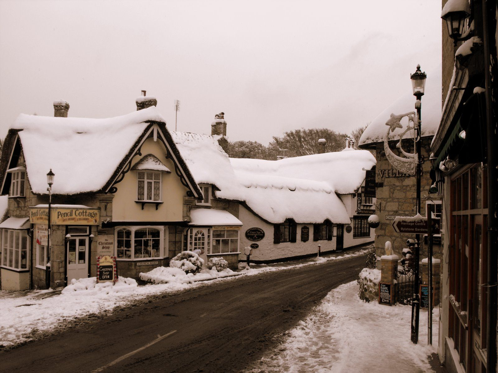 snowy english village wallpaper - photo #41
