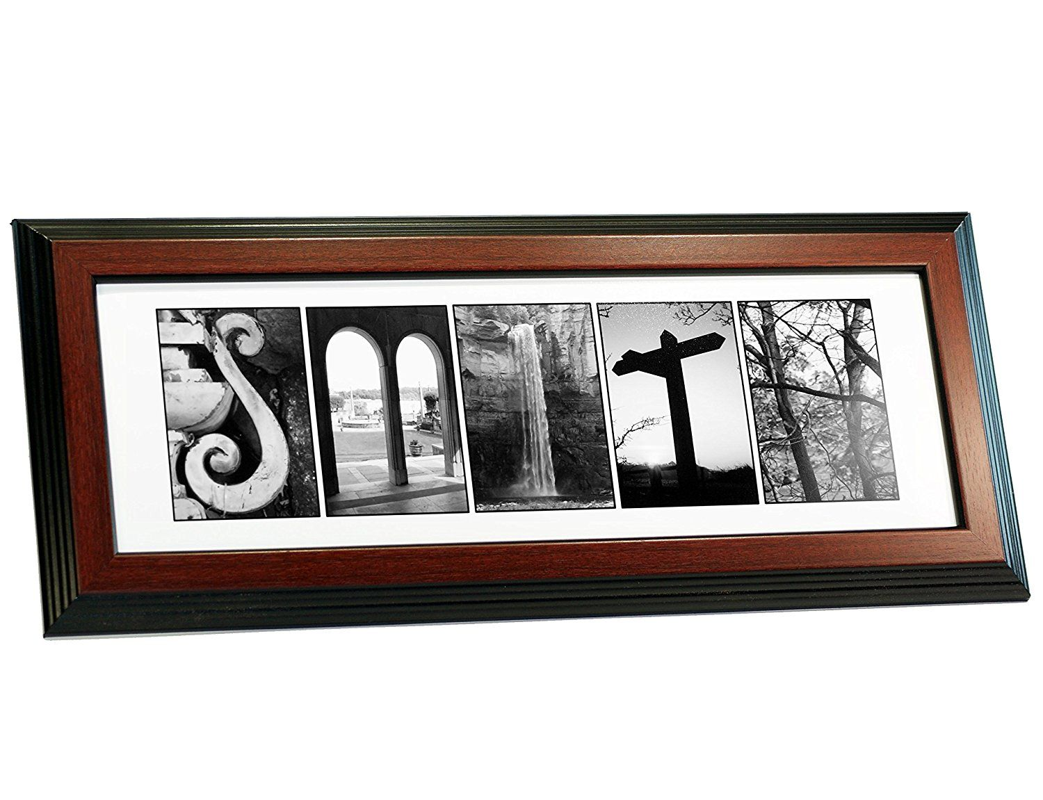 Creative Letter Art Personalized Sign In Nature Themed Alphabet