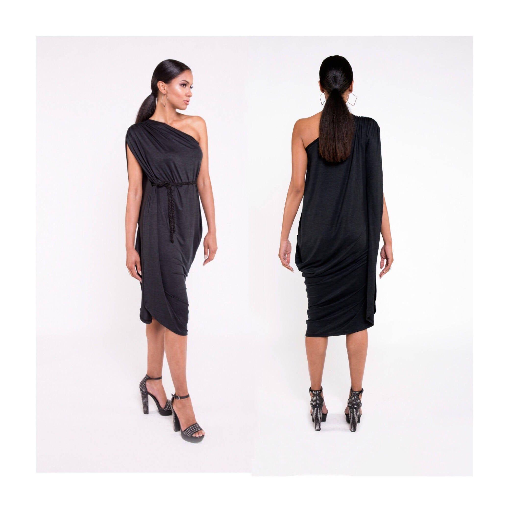 Elegant Black Dress Black Dress Black Drape Dress Long Etsy Elegant Black Dress Draped Dress Long Dress [ 2078 x 2078 Pixel ]
