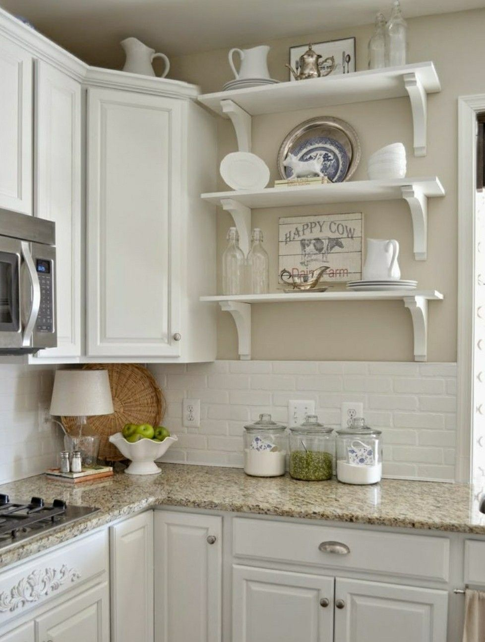 Paint Color, Backsplash, And Countertop❤ ❤ ❤️
