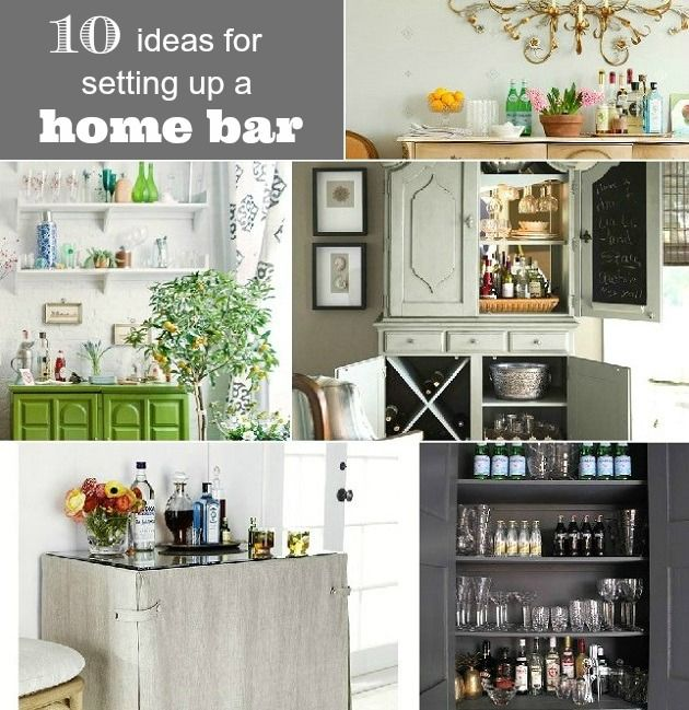10 ideas for setting up a home bar | open shelves, armoires and