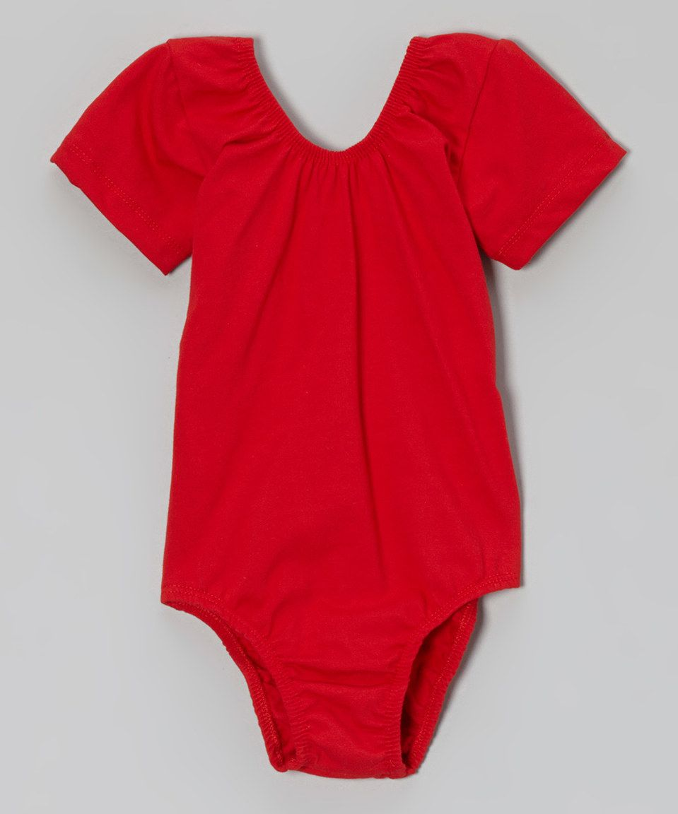 9e3fec68b Love this Inspiration Group Red Short-Sleeve Leotard - Toddler ...