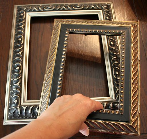 How To Revamp Old Frames Trash To Treasure Old Frames Repurpose Picture Frames Picture Frame Crafts