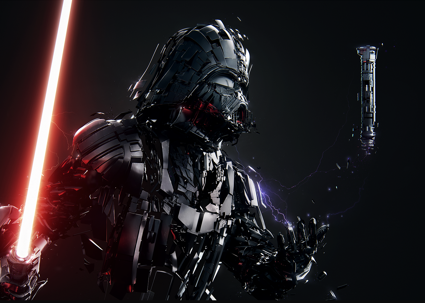 The Project Depicts Iconic Star Wars Characters With Jj Abram S Uber Realistic Zeitgeist Approach Darth Vader Wallpaper Star Wars Wallpaper Star Wars Fan Art
