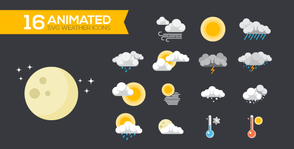 Animated SVG Weather Icons | Logos | Weather icons, Animated svg