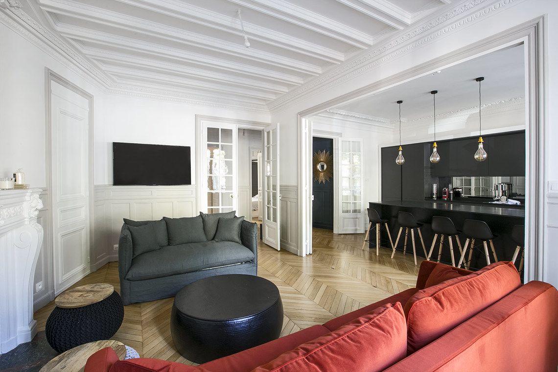 Cuisine Séparée Du Salon location appartement meublé avenue kleber, paris | ref 16571