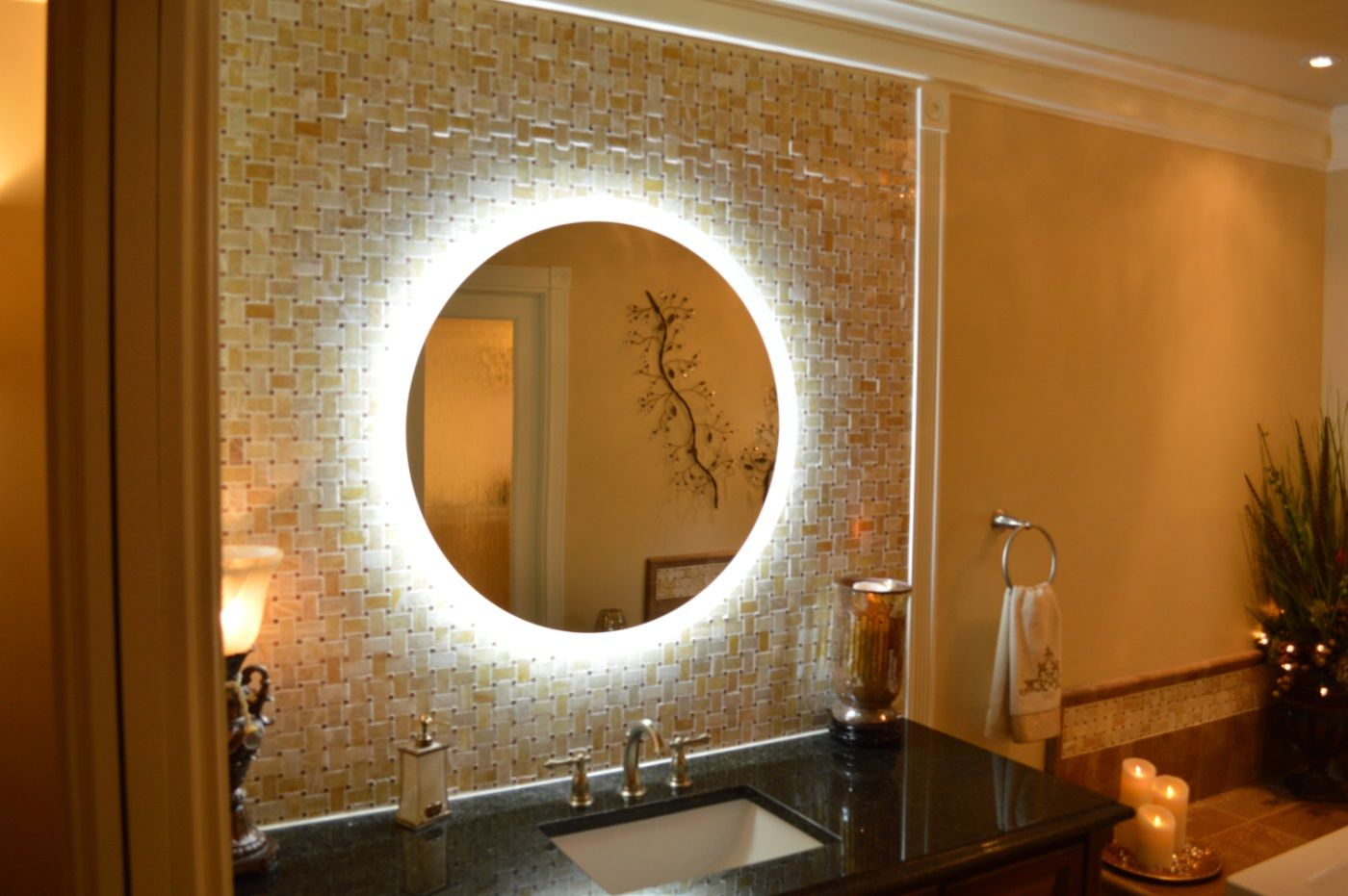 Side Lighted Led Bathroom Vanity Mirror 36 Quot Wide X 36