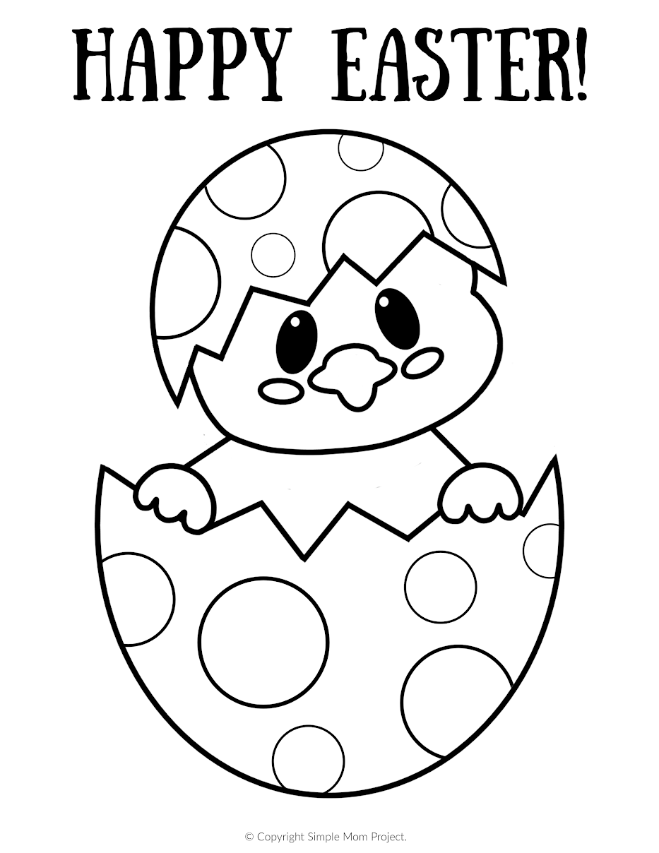 Google Easter Coloring Pages Design
