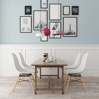 Edgemod Vortex Dining Chair with Walnut Legs (Set of 4 ...