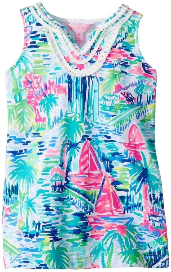 6cf08e95dcf282 Lilly Pulitzer Mini Harper Shift Dress Girl's Dress | All About ...