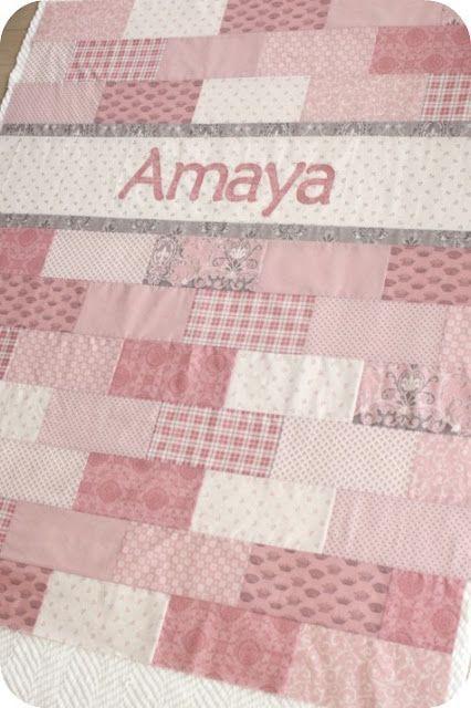 Brick Name Quilt - actual link is: http://kiki-mysewcalledlife ... : baby quilt pattern ideas - Adamdwight.com