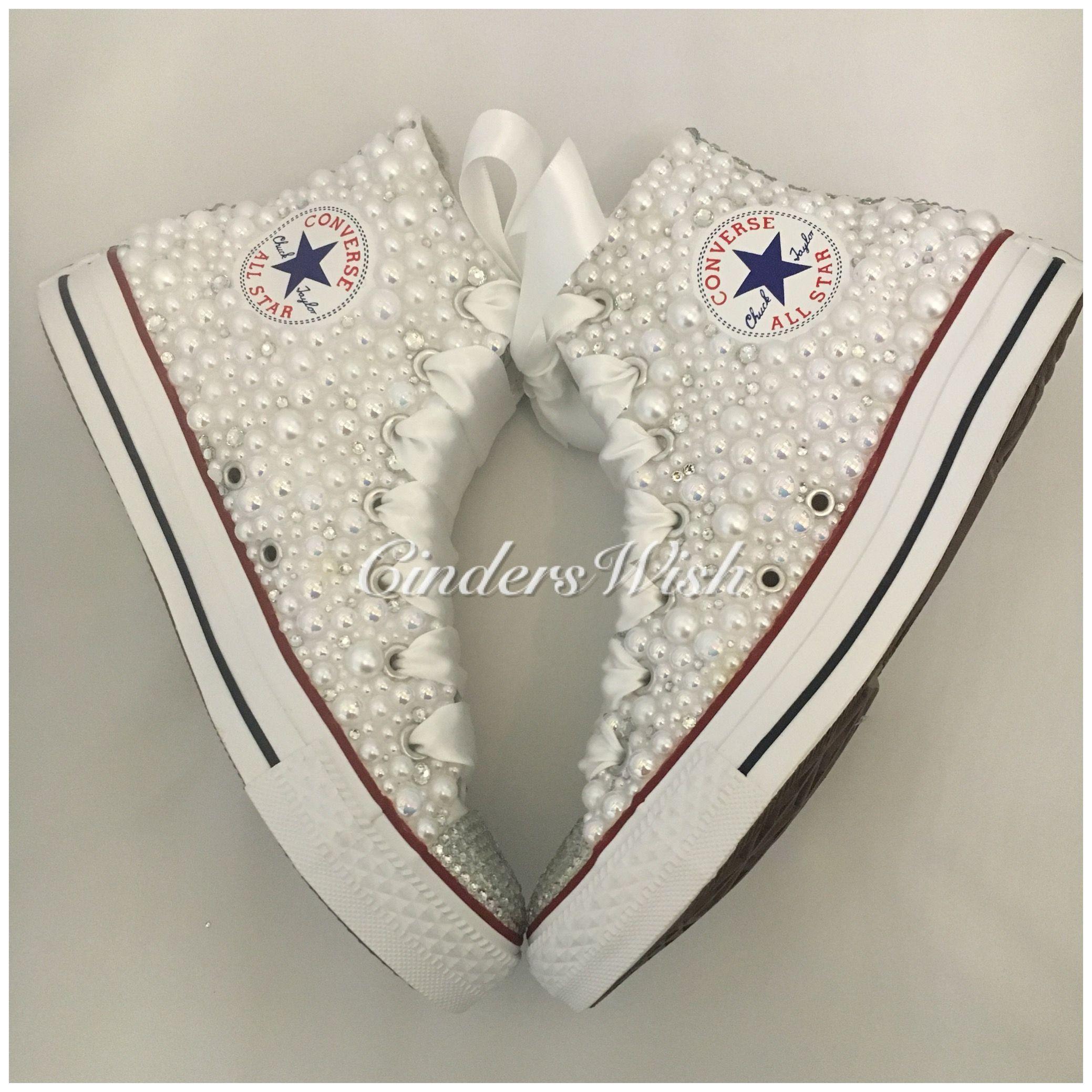dcae06af15a53 Wedding Pearl converse   Wedding Shoes   Wedding shoes, Wedding, Bridal