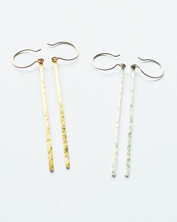 kai earrings in sterling silver and 14k gold by Whitley Designs.  available at www.shopmrc.com $52