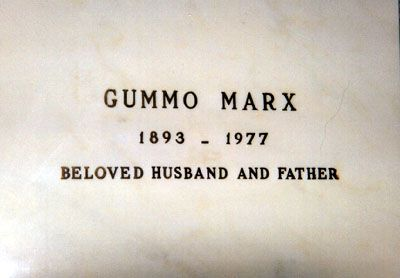 Gummo Marx (1893 - 1977) One of the Marx Brothers, he quit performing early in the history of the act and later served as the remaining brothers' manager