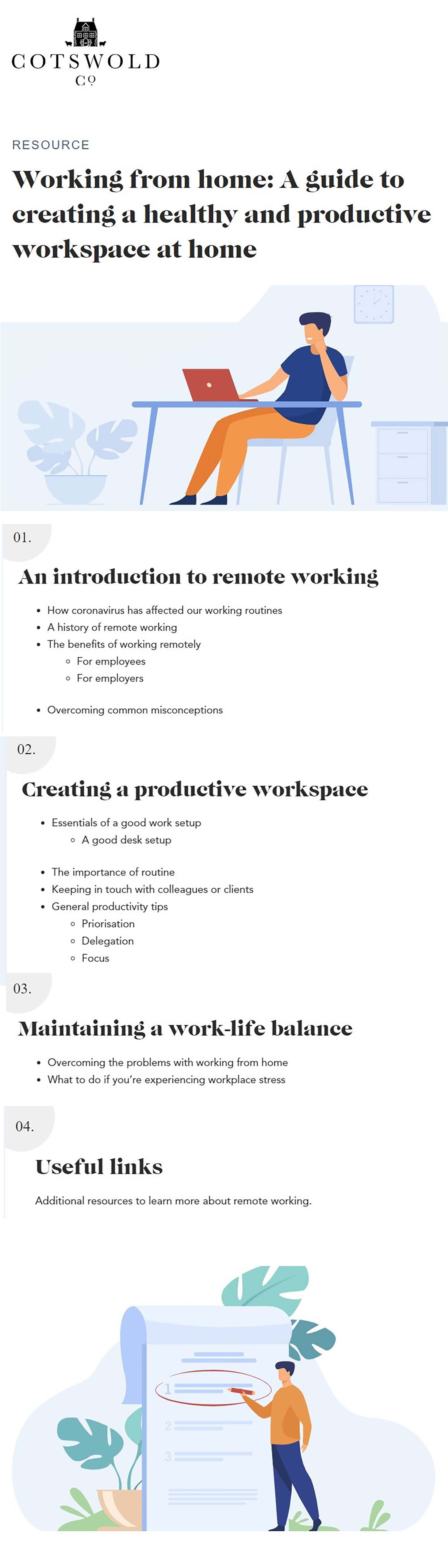A Guide To Happier Remote Working Evans On Marketing Remote Work Physical Environment Infographic