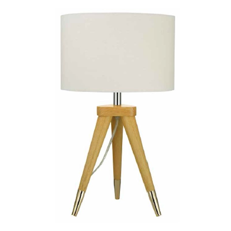 Juke Wooden Tripod Table Lamp White Tripod Table Lamp