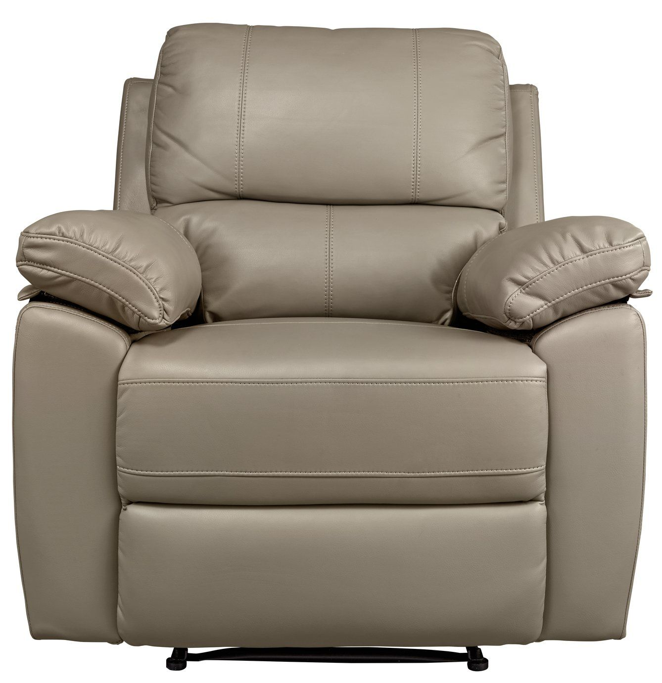Argos Home Toby Faux Leather Manual Recliner Chair Grey 249 99