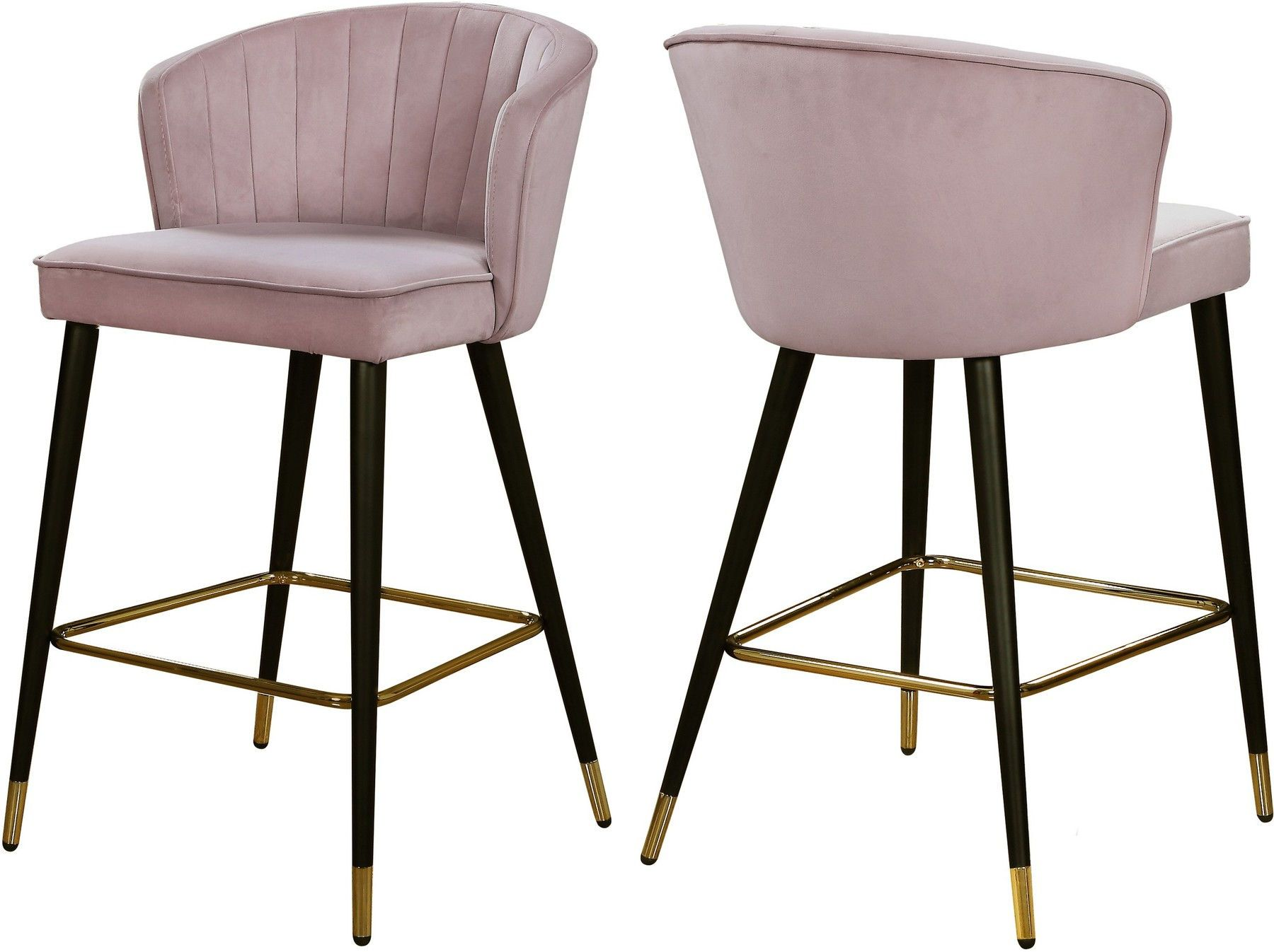 Cassie Pink Bar Stool 793 Meridian Furniture Bar Tables in ...
