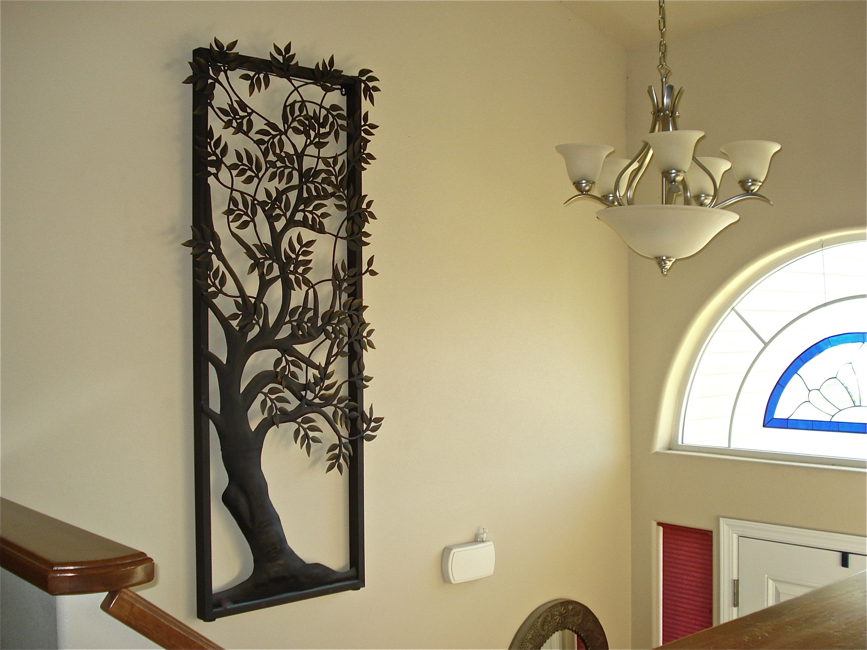 Pier 1 large metal tree art over entry staircase | Metal Trees ...