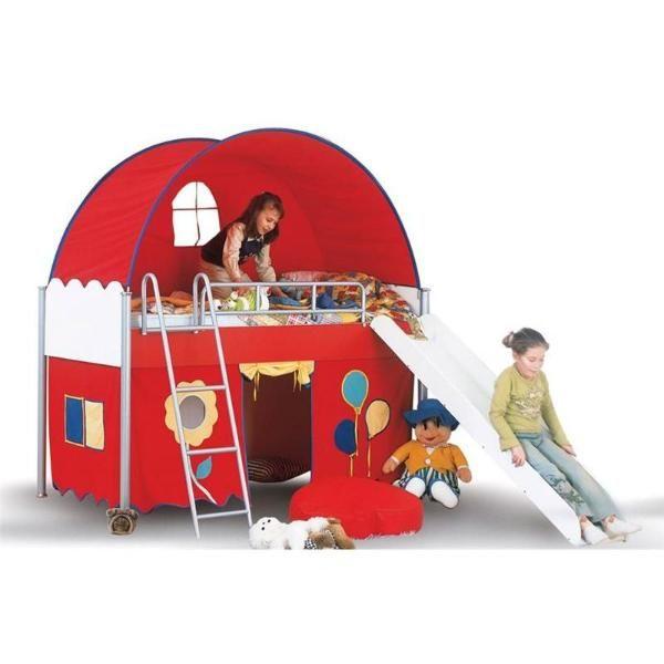 Hochbett Campi Mit Rutsche U Tunnel Versch Farben Frei Haus Hochbett Kinderbett Kinder Bett