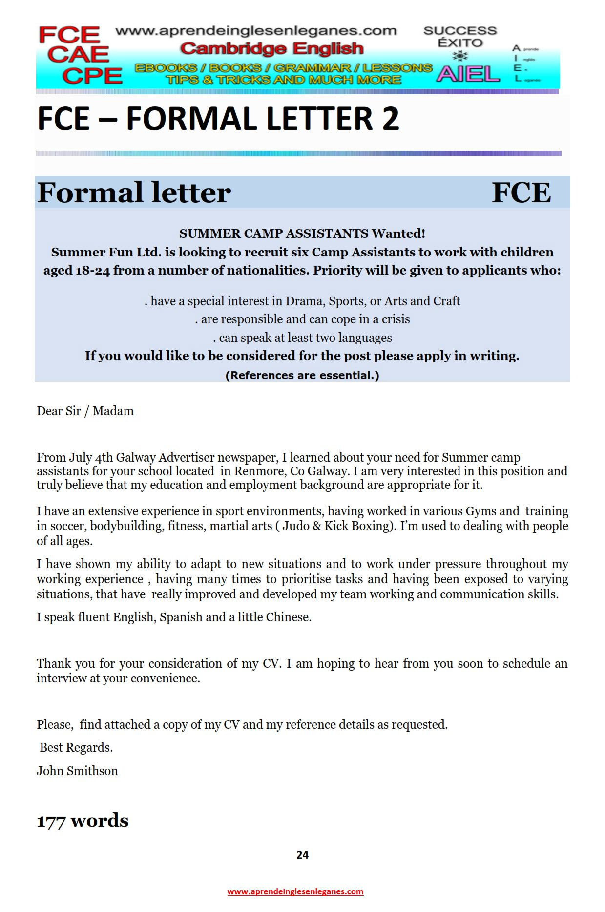 Example Essay Example Article Fce Writing Cae Writing