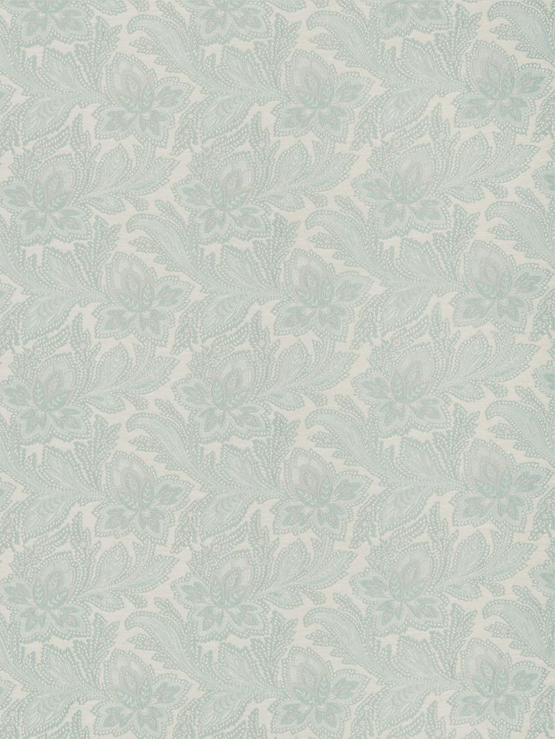 Parisian Alisace Basketweave Jacquard Damask Aqua  Fabric