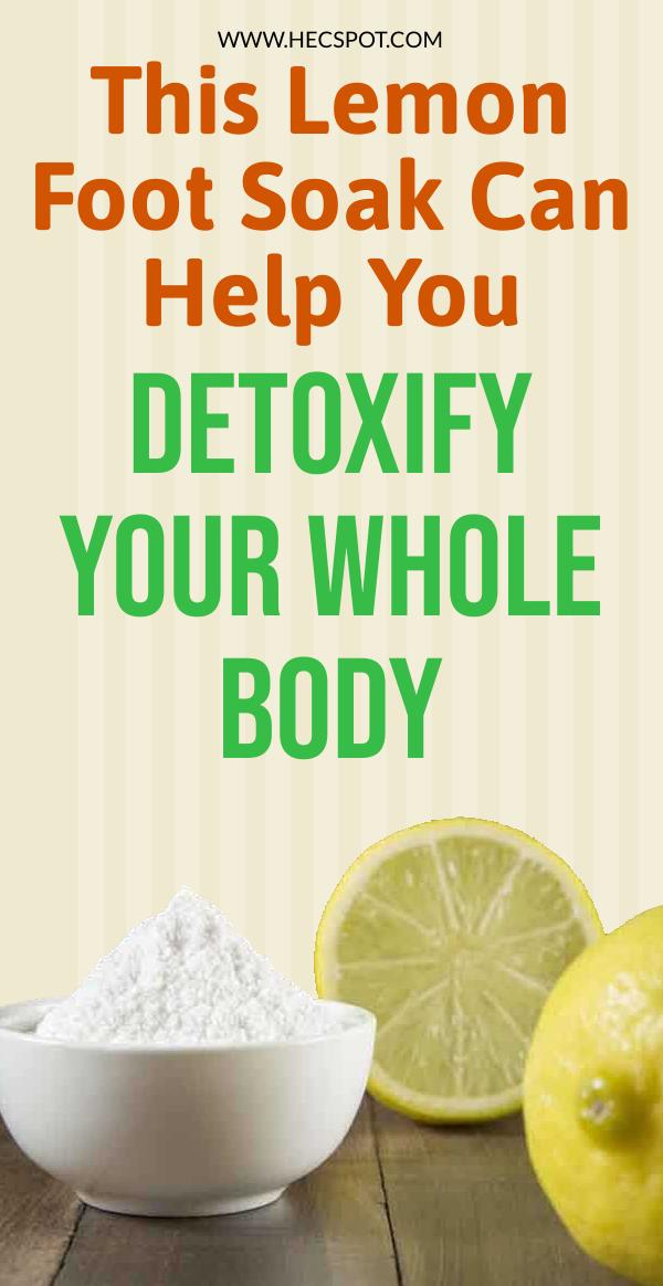 This Lemon Foot Soak Can Help Detoxify Your Whole
