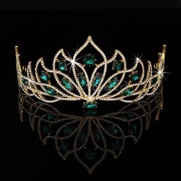 Hochzeit-Prinzessin-Braut-Krone-Kristall-Strass-Pageant-Stirnband-Schmuck-Tiara  #braut #hochzeit #kristall #krone #pageant #prinzessin #strass #crownheadband