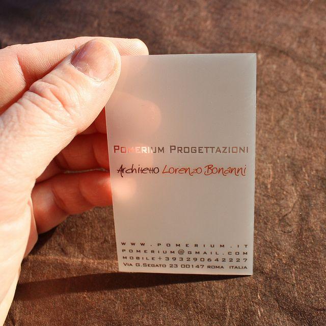 Transparente Visitenkarten Aus Kunststoff Business Card