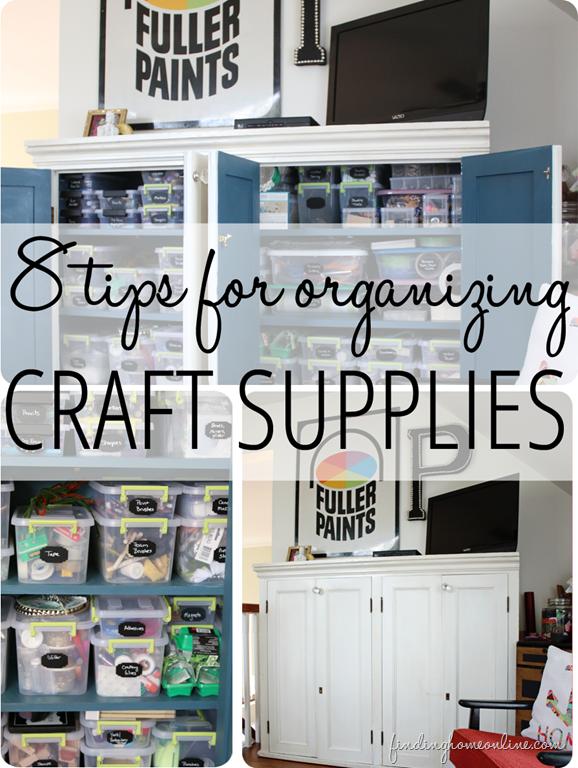 8 tips for organizing craft supplies organizadores - Organizadores hogar ...