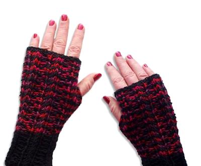 Knitting   Work in Progress: Pattern   Kintra Mitts..Worked flat!!!!!