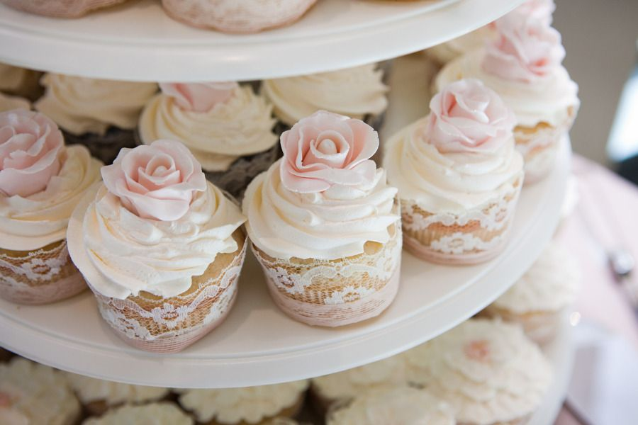 Lace Wrapped Cupcakes   Photography: White Album Weddings   On SMP