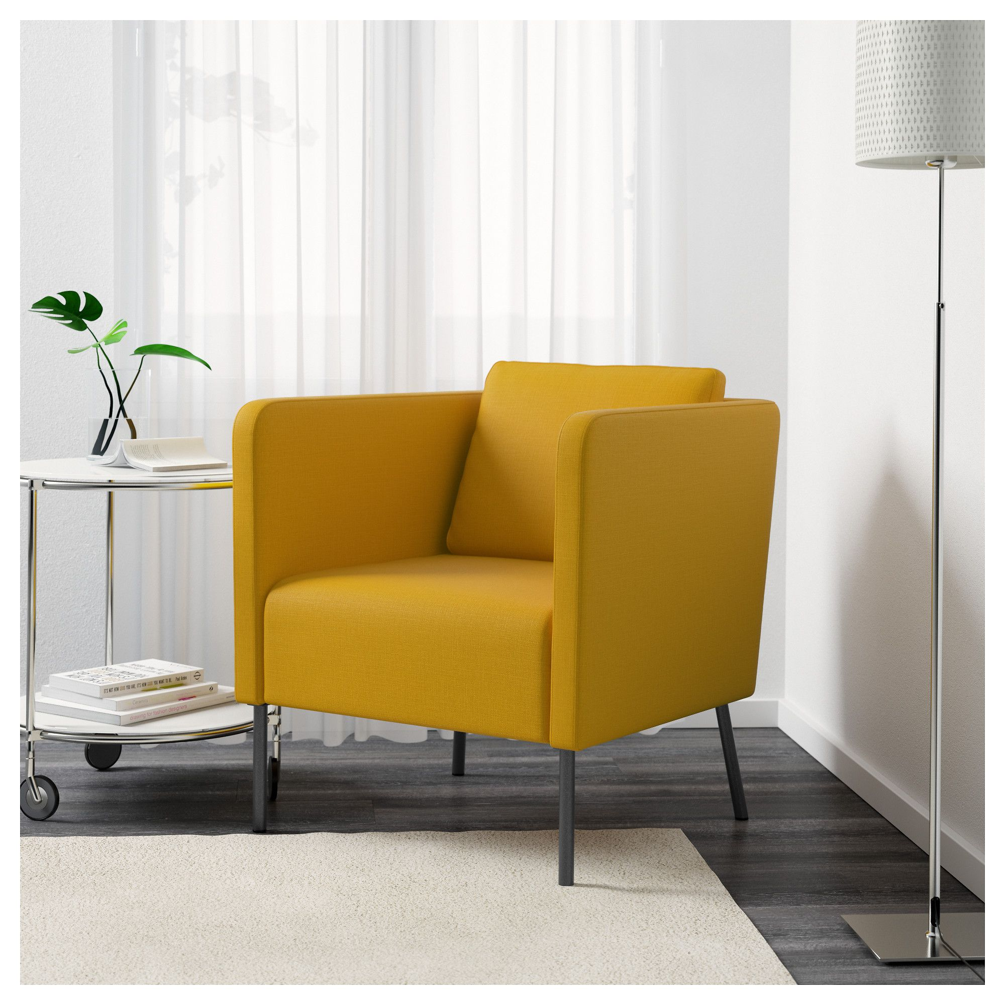 Ekero Skiftebo Yellow Armchair Ikea Yellow Armchair Living Room Accent Chair Bedroom Armchair