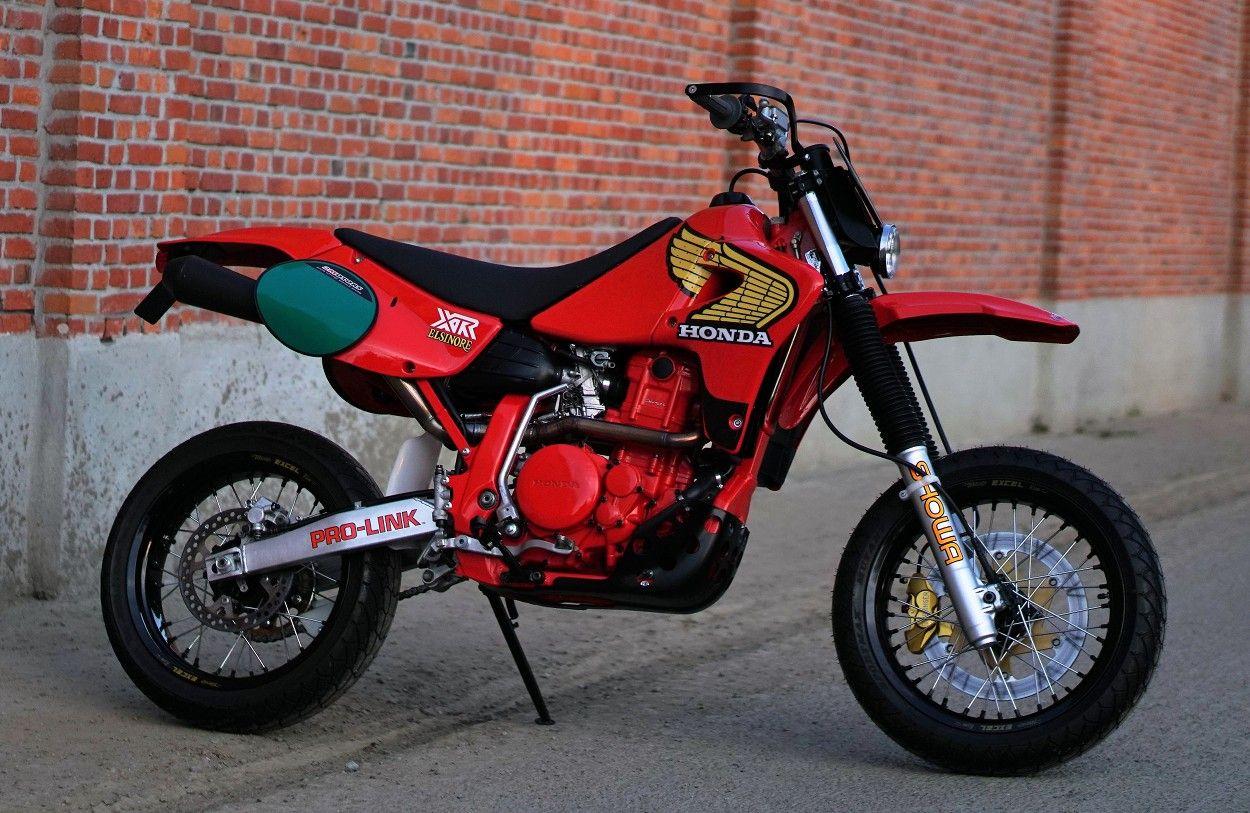 Honda Xr650r Retromotard By 2motors Motorcross Bike Custom Dirt Bike Supermoto