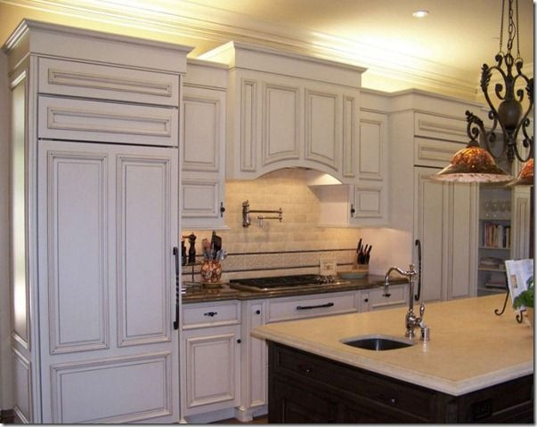 Lighting And Crown Moulding Ideas For Kitchen Cabinets