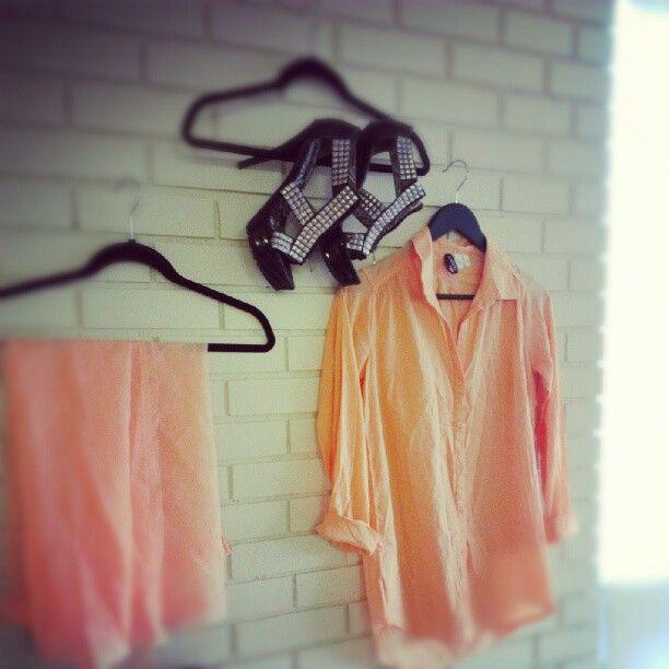 Work hard, dance hard #fashion #orange #heels