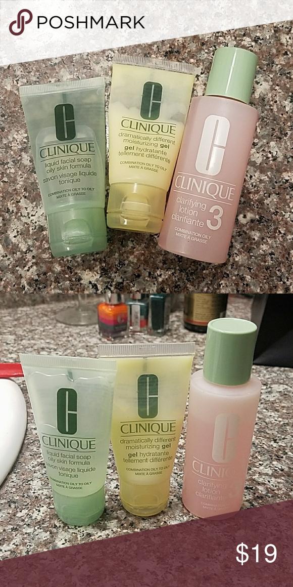 Clinique clarifying set Travel size wash, toner and moisture Clinique Makeup
