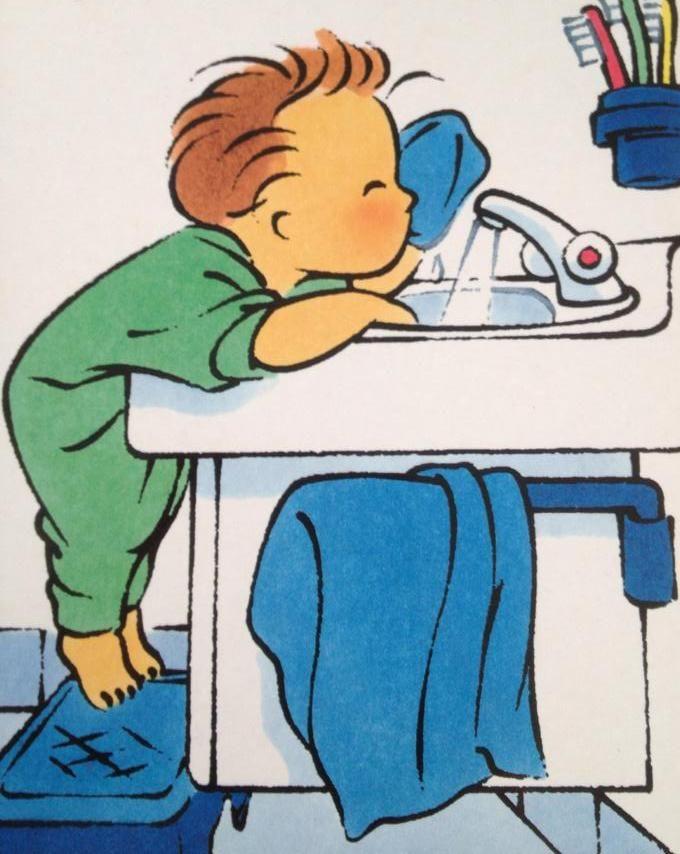 Wassen met een washandje   Thema