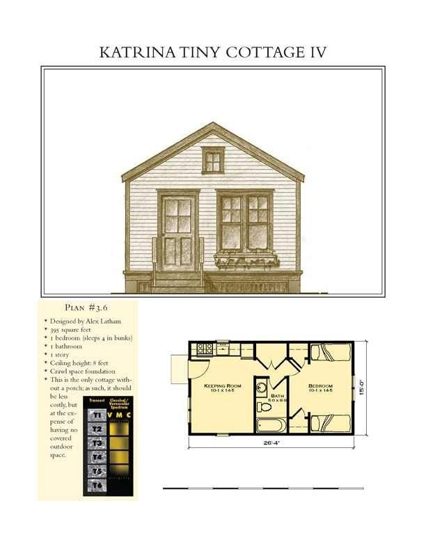 Plan 28934jj Tiny Cottage House Plan With Vaulted Interior Cottage House Plans Guest House Plans House Plans