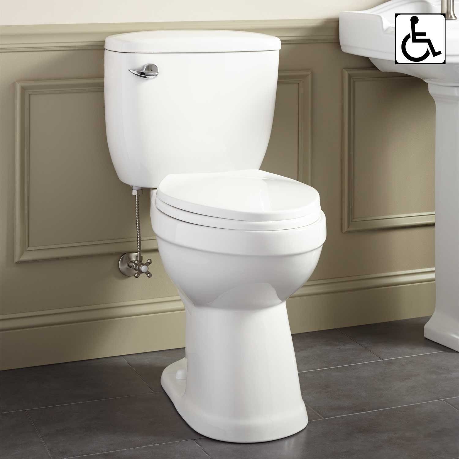 Stalnaker Siphonic Elongated Two-Piece Toilet - ADA Compliant ...